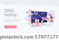 Genetic testing landing page concept 57077177