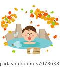 ป๊อปชายอาบน้ำเปิดโล่งใบไม้ฤดูใบไม้ร่วง 57078638