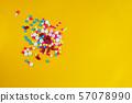 pills medicine on yellow background 57078990