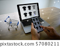 Business people use Technology E-commerce Internet 57080211
