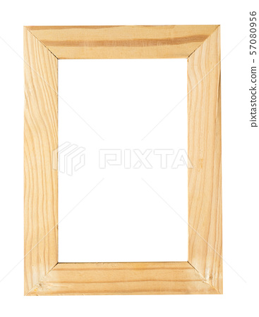 Picture frame wood isolate 57080956