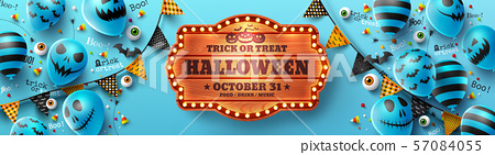 Happy Halloween trick or treat poster 57084055