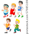 Collection of kids running collection set 57085109