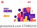 Shopping online on mobile app. Vector illustration. 57086243