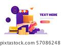 Shopping online on mobile app. Vector illustration. 57086248