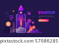 Start up business concept for mobile app development or other disruptive digital business ideas 57086285