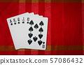 Royal flush,chips 57086432