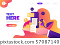 Business mobile application vector isometric illustrations 57087140