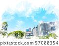 초여름의 황궁 수채화 화풍 57088354