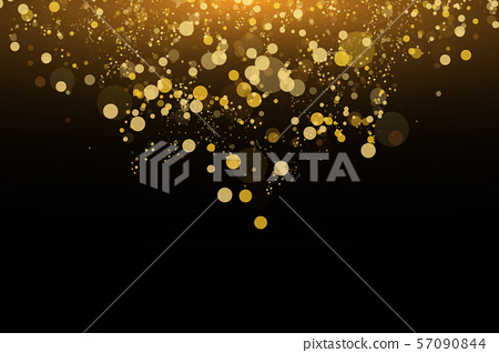 Light abstract glowing bokeh lights. Bokeh lights effect isolated on black background. Festive 57090844