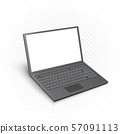 laptop mockup template white screen 57091113