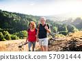 senior, couple, traveller 57091444