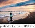 woman, ice, seaside 57091912