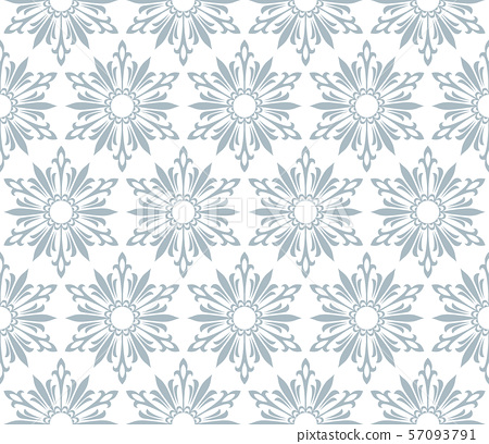 Abstract geometric pattern with lines, snowflakes. 57093791