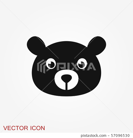bear icon vector concept illustration for design stock illustration 57096530 pixta pixta