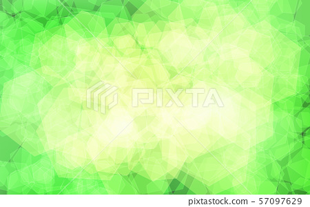 Green and yellow abstract hexagons, background 57097629