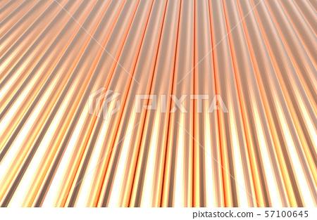 Copper cylinder pattern background. 3D rendering. 57100645