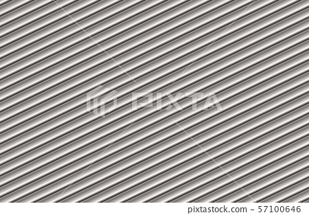 Silver cylinder pattern background. 3D rendering. 57100646