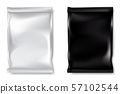 Black and white bags packaging in front view on white background. 57102544