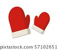 크리스마스 장갑의 일러스트 세트 57102651