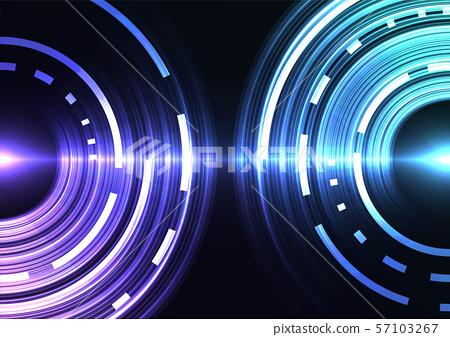 blue purple circle digital pixel abstract 57103267