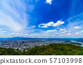 [일본의 관광 이미지] 간사이의 중심지이며 관광 도시인 교토의 북쪽을 원하는 전경 57103998