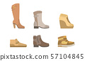 Male and Female Shoes Set, Footwear for Autumn or Winter Seasons Vector Illustration 57104845