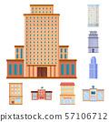 Vector design of facade and building logo. Collection of facade and exterior stock symbol for web. 57106712