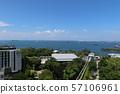 新加坡聖淘沙島魚尾獅天文台的風景(2)新加坡海峽 57106961