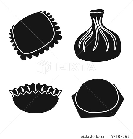 Vector illustration of cuisine and appetizer logo. Set of cuisine and food stock vector illustration 57108267