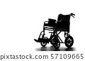 輪椅剪影 57109665