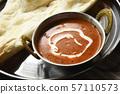 黄油鸡肉咖喱南奶油美味辣香料印度食品印度咖喱 57110573