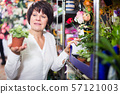 Adult woman client deciding on best begonia 57121003