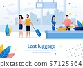 Lost or Damaged Luggage in Airport Vector Banner 57125564