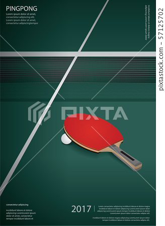 Pingpong Poster Template Vector Illustration 57125702