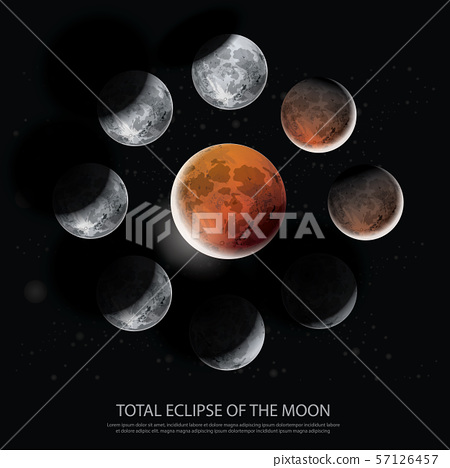 Total Eclipse of the Moon Vector illustration 57126457