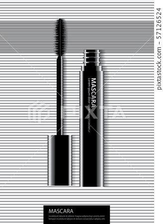 Poster Cosmetic Eyeliner with Packaging Vector Illustration 57126524