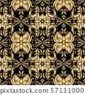 Retro gold ornamental floral seamless pattern, 57131000
