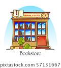 Bookstore or book shop, store for literature 57131667