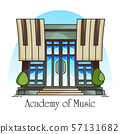 Music academy or conservatory building 57131682