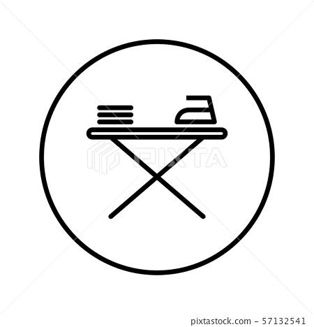 Ironing board. Icon. Editable Thin line. Vector illustration. 57132541