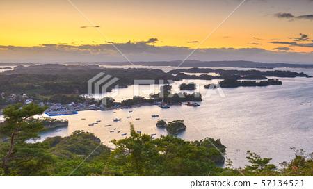 Matsushima, Japan coastal landscape from Mt. 57134521