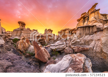 Bisti/De-Na-Zin Wilderness, New Mexico, USA 57134523