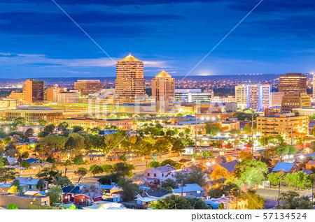 Albuquerque, New Mexico, USA Cityscape 57134524