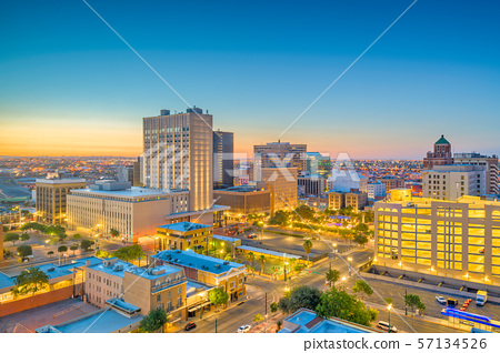 El Paso, Texas, USA Downtown Skyline 57134526