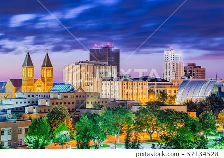 Akron, Ohio, USA Town Skyline 57134528