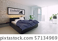 modern bedroom interior design. 57134969