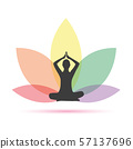 yoga person in a colorful lotus flower 57137696