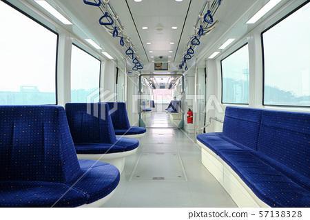 Magnetic levitation train in Yeongjongdo Island, South Korea. 57138328