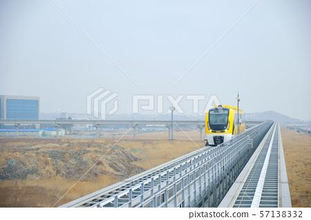 Magnetic levitation train in Yeongjongdo Island, South Korea. 57138332